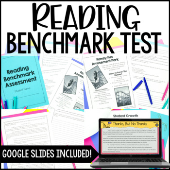 Common Core Reading Benchmark Assessment {4th & 5th Grade}