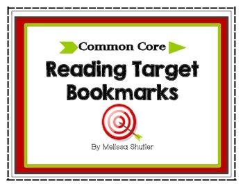 Common Core Reading Bookmarks Grade 3