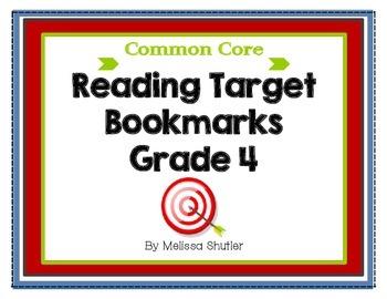 Common Core Reading Bookmarks Grade 4