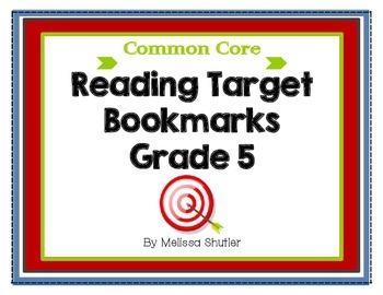 Common Core Reading Bookmarks Grade 5