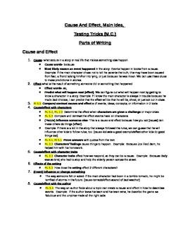Common Core Reading Cause/Effect Reading Unit 5th grade