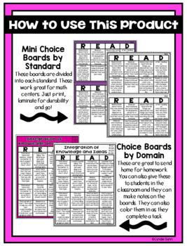 Choice Menus Bundle for Second Grade ELA