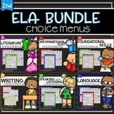 Choice Menus Bundle for Second Grade ELA