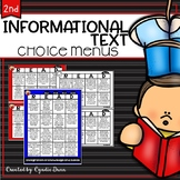 Choice Boards Informational Text Second Grade