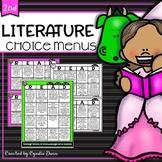 Choice Menus for Second Grade Literature