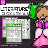 Second Grade Literature Choice Boards Distance Learning Ho