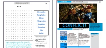 Common Core Reading Comprehension RL 1-10 4th Grade Workbook
