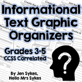 Informational Text Comprehension Graphic Organizers - CCSS Grades 3-5