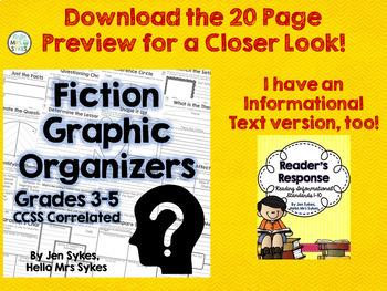 Fiction Comprehension Graphic Organizers - CCSS Literature Standards 3-5