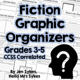 Fiction Comprehension Graphic Organizer Bundle - CCSS Literature 3-5