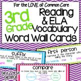 Reading & ELA Vocab Cards for 3rd Grade {Common Core}