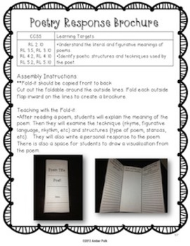 Common Core Reading Fold-Its (2nd-5th Grade Informational and Literature)