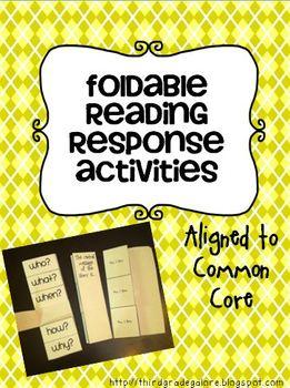 Common Core Reading Foldables