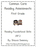 Common Core Reading Foundational Skills Assessments- FIRST GRADE