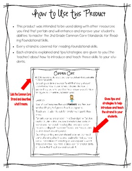 Common Core Reading Foundational Skills for 2nd Grade