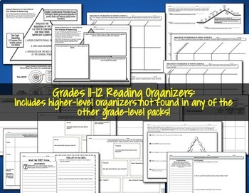 Reading Graphic Organizers Gr 11-12 CCSS-aligned