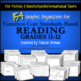 Reading Graphic Organizers Gr 11-12 CCSS-aligned Distance Learning