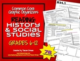 Common Core Reading History & Social Studies Graphic Organizers 6-12