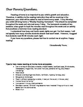 Common Core Reading Homework