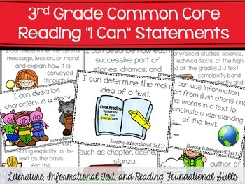 Common Core Reading I Can Statements