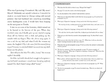 Common Core Reading - Inferences & Figurative Language
