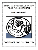 Informational Passage and Assessment for Grade 8-9 (Common Core-Aligned)