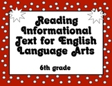 Common Core Reading Informational Text Standards Posters 6