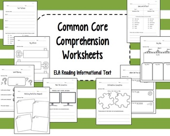 Common Core Reading Informational Text Worksheets