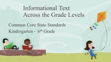 Common Core Reading: Across the Standards, Informational Text PPT