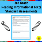 Common Core Reading Informational Texts Standard Assessments for 3rd Grade