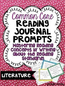 Common Core Reading Journal Prompts: Literature {5th Grade Common Core}