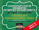 Common Core Reading Lit & NonFiction Graphic Organizers {Grades 6-12}