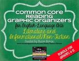 English Reading Lit & NonFiction Graphic Organizers Bundle {Grades 6-12}