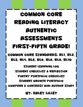 Common Core Reading Literacy Authentic Assessments {Differentiated Instruction}