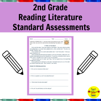 Common Core Reading Literature Standard Assessments for 2nd Grade
