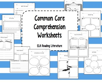 Common Core Reading Literature Worksheets