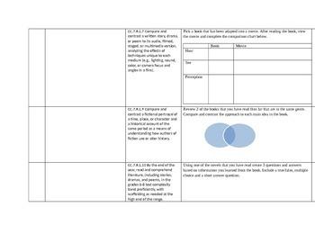 Common Core Reading Log-7th Grade