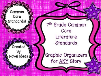 Common Core Standards Based Graphic Organizers & Log for 7