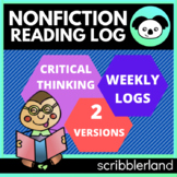 Common Core Reading Log (Informational Text) Homework
