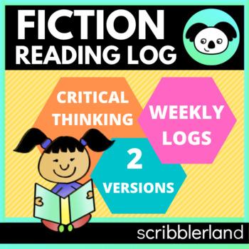 Common Core Reading Log (Literature/Fiction) Homework