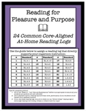 Common Core Reading Logs--Grade 4