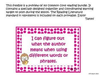 Common Core Reading Organizer