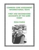 Common Core-Aligned Reading: Firsthand and Secondhand Info