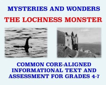 Mysteries and Wonders Passage and Assessment #1: The Loch Ness Monster