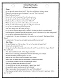Common Core Reading Prompts and Questions