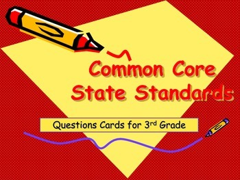 Common Core Reading Question Cards for 3rd Grade