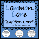 Common Core Reading Question Cards with Sentence Frames