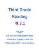 Common Core Reading - RI 3.1