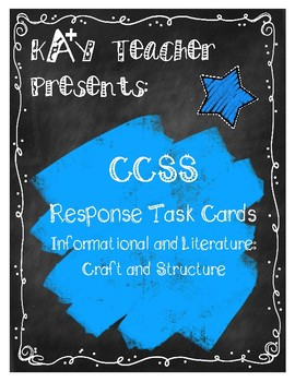 CCSS Reading Response Cards (Fiction and Non-Fiction): Craft and Structure