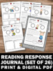Reading Response Journal Writing Prompts & Activities for